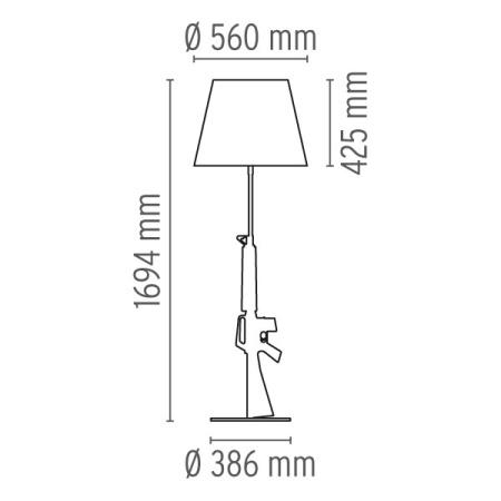 Flos Lampada da tavolo - LOUNGE GUN EUR ORO LUC F2955000