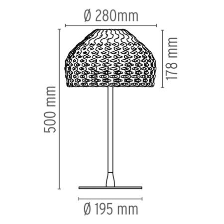 Flos Lampada da tavolo - TATOU T1 H.50 42W E27 BIANCO F7761009