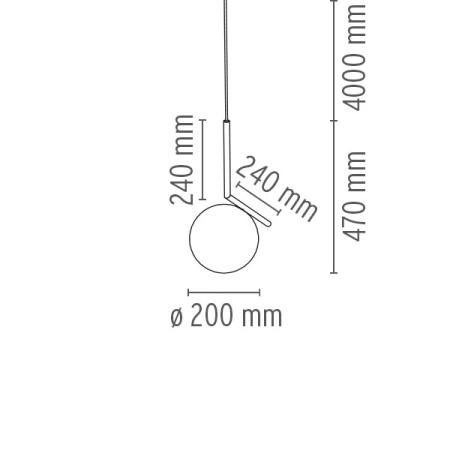 Flos Lampada a sospensione - IC S1 EUR CRO F3175057