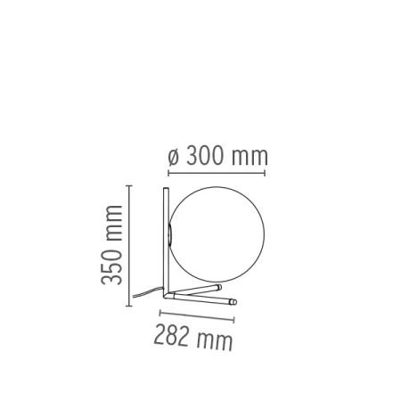 Flos Lampada da tavolo - IC T2 TAVOLO CROMO F3172057