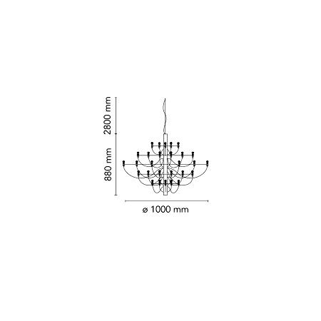 Flos Lampada a sospensione a luce diffusa - 2097/50 SO 50X15W E14 Cromo - A1500057