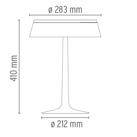 Flos Lampada da tavolo - Bon Jour rame F1032015