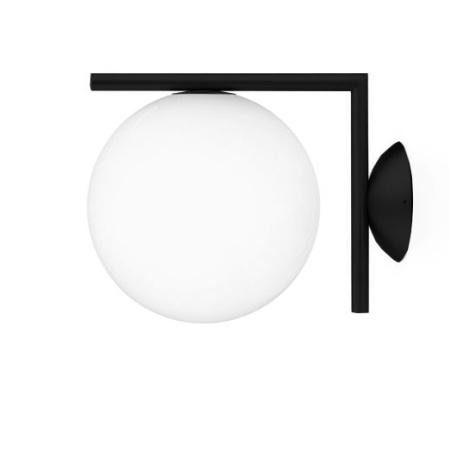 Flos IC C/W1 Nero Lampada da parete con struttura in acciaio e ottone - F3178030