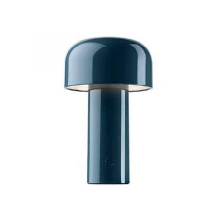 Flos Bellhop Blu Grigio Battery Lampada Da Tavolo Ricaricabile - F1060014