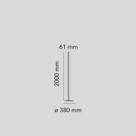 Flos Piantana Coordinates 2700K Piantana Flos colore champagne - F1801044