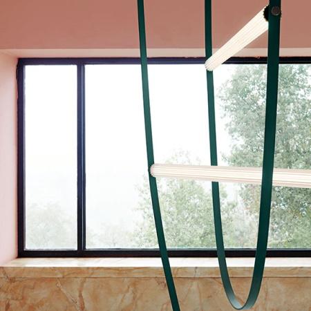 Flos Wireline Verde Lampada a sospensione a luce diffusa - F9520039