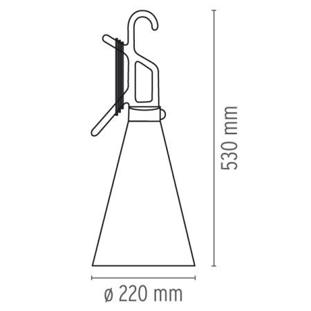 Flos Lampada portatile - MAYDAY TA 60W E27 ARANCIO F3780002