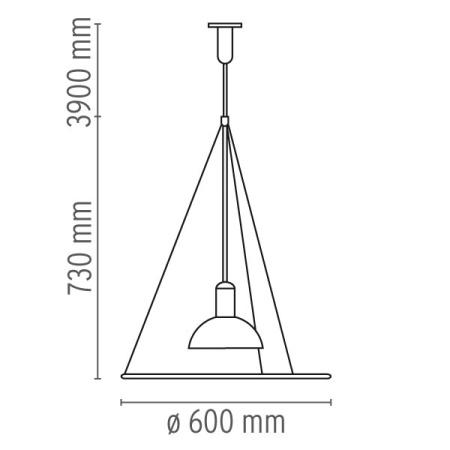 Flos Lampada a sospensione - FRISBI SO 150W E27 F2500000