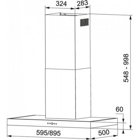 Franke Cappa a parete - Hood Tiber 60 Xs 325.0608.796