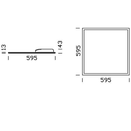 Fos Nova LED panel - Paneltech 1848 31w 4k Celld Bia