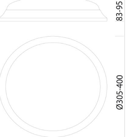 Fos Nova  2204241300 - Tortuga  Led 28W 4k - Plafoniera da Esterno
