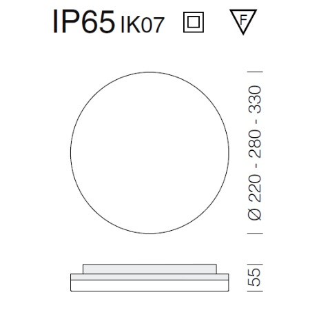 Fos Nova - Pastilla Led 24W 4K - Lampada a plafone - 22042515-00