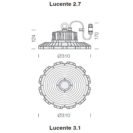 Fos Nova - Lucente 3.1    3700 - 150W -4K - 22370031-00