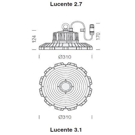 Fos Nova - Lucente 3.1 -  3700 150W -4K - 22370032-00