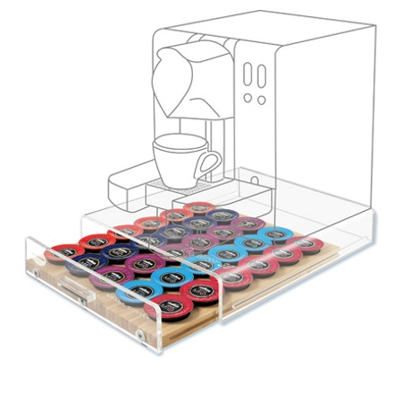 Portacapsule Universale Dispenser per 30 capsule universale