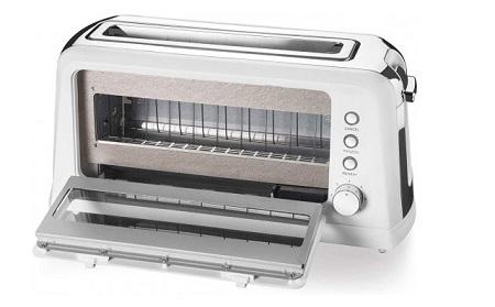 Macom Tipo identificante tostapane - Tostapane con sportello apribile Window Halo Toaster