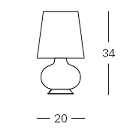 FontanaArte Lampada da tavolo - Fontana Piccola