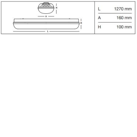 3f Filippi Armatura stagna LED EP (emergenza permanente) - Linda LED BASIC EP 2x24W - 58600