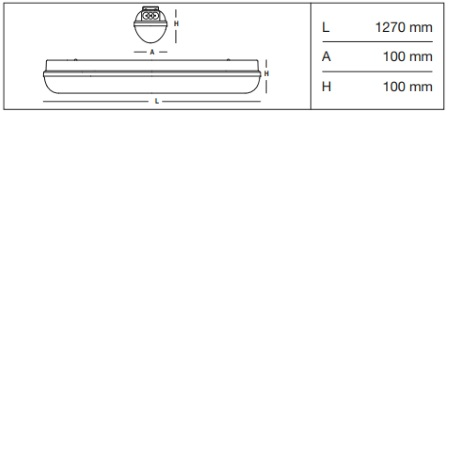 3f Filippi Armatura stagna LED ENP (emergenza non permanente) - Linda LED BASIC ENP 1x24W - 58713