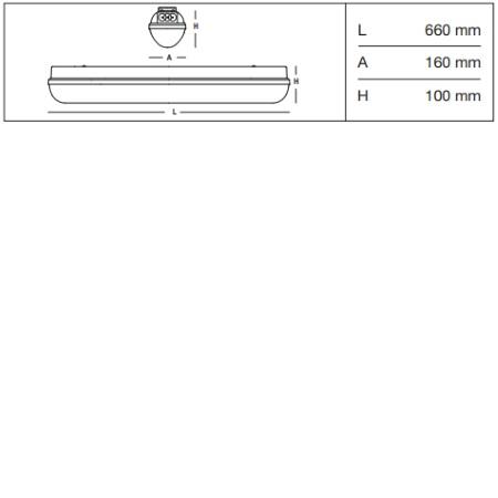 3f Filippi Armatura stagna LED EP (emergenza permanente) - Linda LED BASIC EP 1x12W - 58567