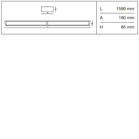 3f Filippi Apparecchio LED FILIGARE 180 - FILIGARE 180 LED 2x30W - 12607