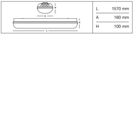 3f Filippi Armatura stagna LED - Linda LED BASIC 2x30W - 58616