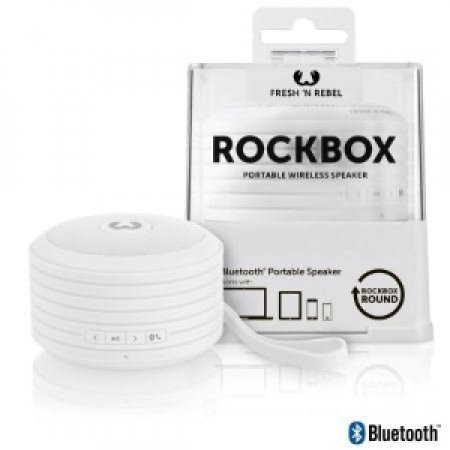 FRESH'N'REBEL Speaker portatile Bluetooth - ROCKBOX ROUND BT SPEAKER WHITE