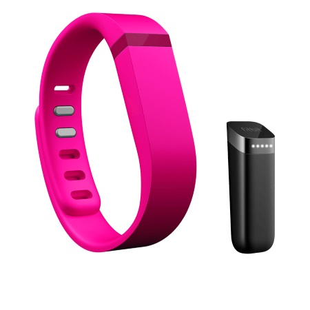 Fitbit Braccialetto Smart - Flex Pink + Set 3 cinturini Large