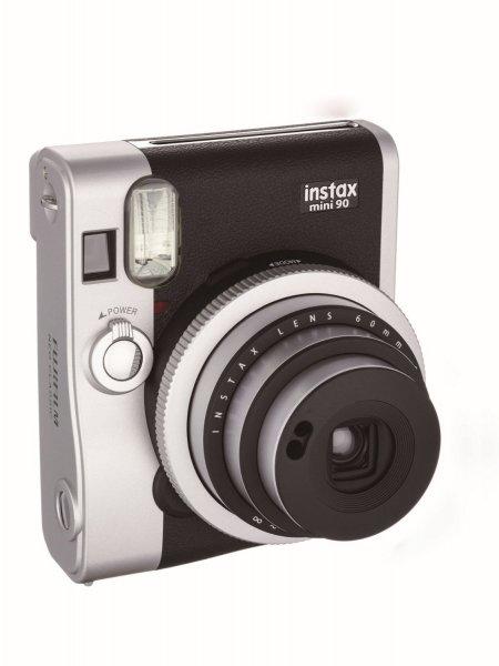 Fuji Fotocamera compatta - Instax Mini 90 Silver-nero