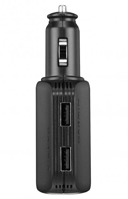 Garmin Caricabatterie per Navigatori e smartphone - Caricabatterie multiplo ad alta velocità - 010-10723-17
