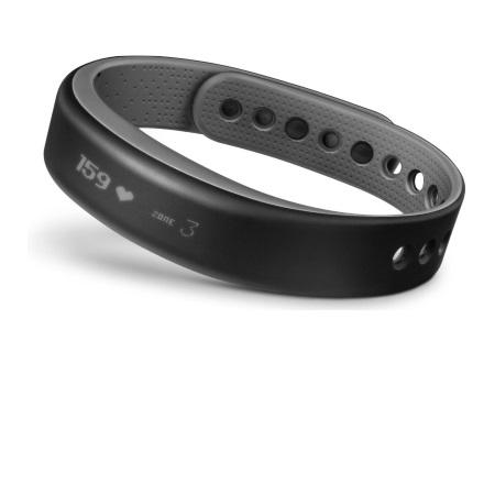 Garmin Smartwatch Fitness - Vivosmart Slate Grey Size Large