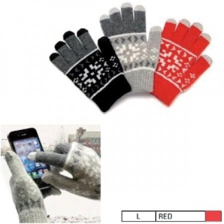 G&BL Guanti speciali per display Touchscreen di Smartphone e Tablet - TOUCH GLOVE RED CLAUS SIZE L