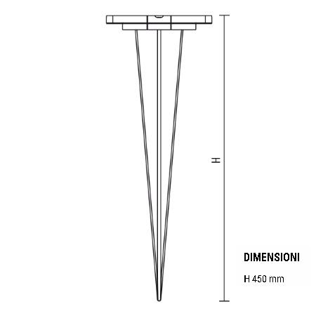 Goccia Illuminazione Picchetto per palo I-Lux - Picchetto Grafite - 5505