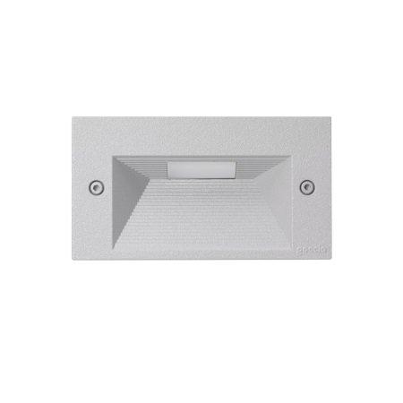 Goccia Illuminazione - Quantum Maschera Alluminio Orizzontale Grigio Metallizzato