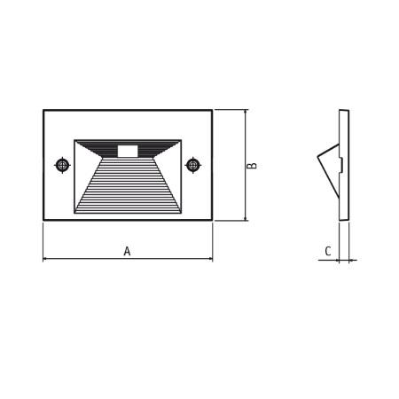 Goccia Illuminazione Maschera di rivestimento per corpo lampada - Quantum 3 Moduli Maschera Alluminio Grigio Metallizzato