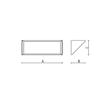 Goccia Illuminazione - Midi Led 17,5w Silver