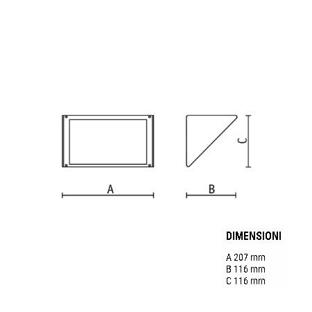 Goccia Illuminazione Lampada da parete per esterni - Small Senza Griglia Silver 5606SI