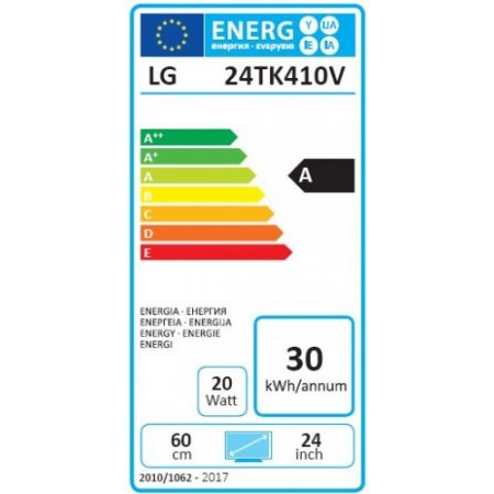 "Lg Monitor tv led flat hd classe energetica ""A"" - 24tk410v"