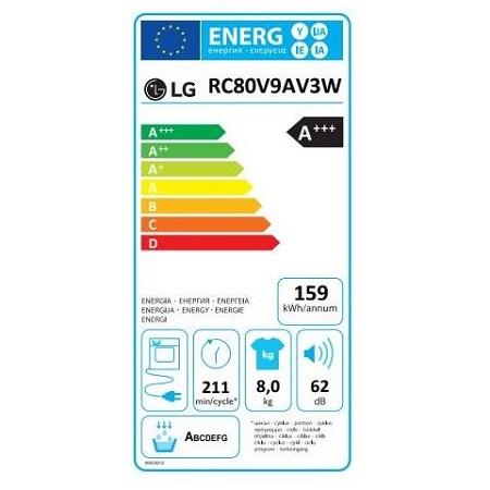 Lg Classe Energetica A+++ -10% - Rc80v9av3w.abwqkis