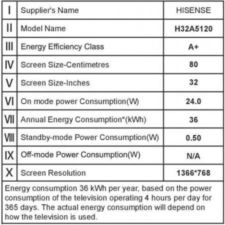 "Hisense Tv led 32"" hd ready - H32a5120"