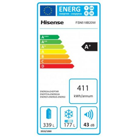 Hisense Frigo side by side no frost - Fsn518b31c