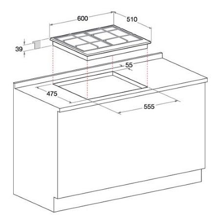 Hotpoint Piano cottura   Elettrico - Ariston - PC 604 (WH)/HA