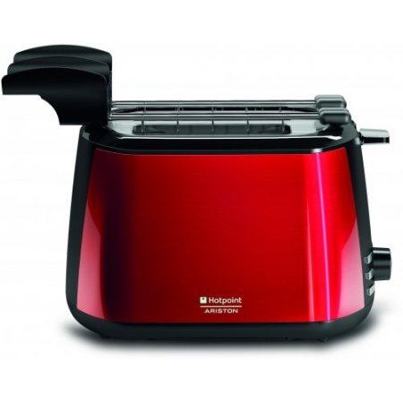 Hotpoint Tostapane 850 w - ariston - Tt22mdro Rosso-acciaio Inox