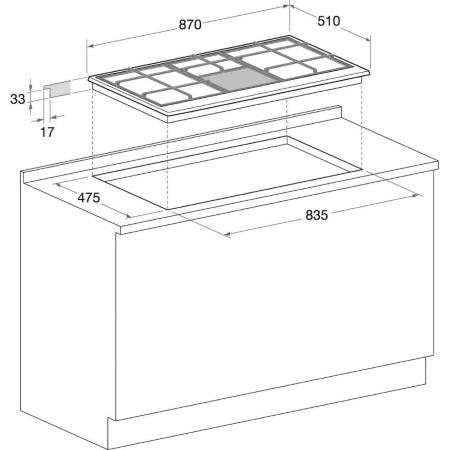 Hotpoint Piano cottura Multifunzione - Ariston - PH 941MSTB GH/HA