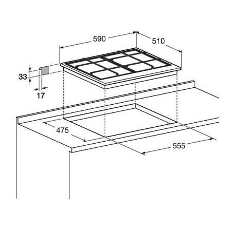 Hotpoint Piano cottura a gas - Ariston - EHPR 640 T (AV)/HA