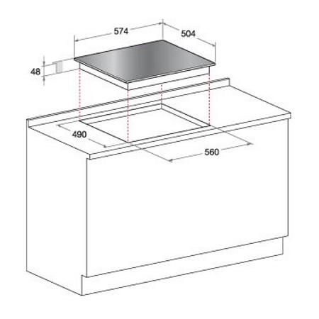Hotpoint Piano cottura a induzione - Ariston - KRM 640 X