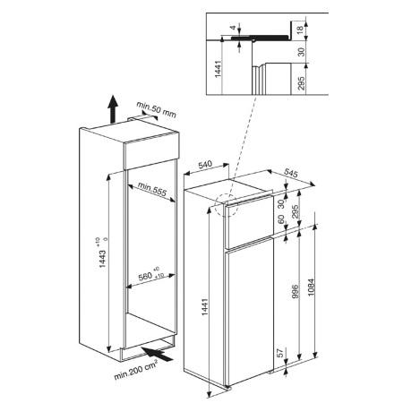 Hotpoint Doppia Porta da incasso - Ariston - BD 2422 S