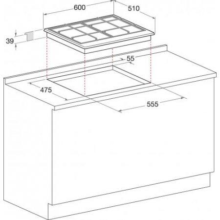 Hotpoint Piano cottura a gas - ariston - Pcn 641 T/ix/har