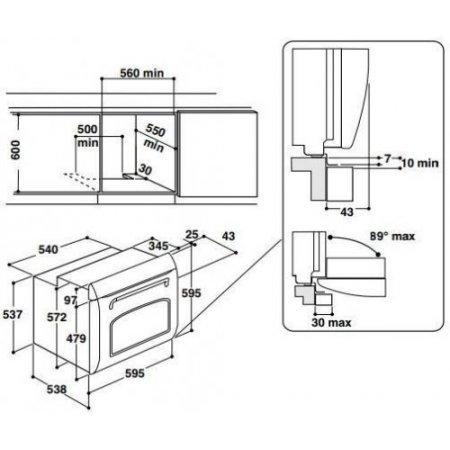 Hotpoint Forno elettrico 2600 w - ariston - Fit804havha