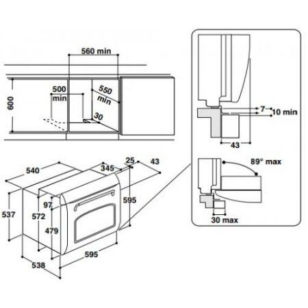 Hotpoint Forno elettrico 2600 w - ariston - Fit804hanha